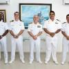 Comando do 9º Distrito Naval recebe visita  do Chefe do Serviço de Hidrografia  e Navegação da Amazônia no Peru