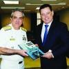 Comandante do 7º Distrito Naval visita  governador do estado de Goiás