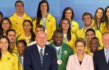 Presidenta Dilma Rousseff comemora 10 anos do Bolsa Atleta no Palácio do Planalto