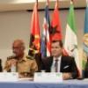 Militares participam de exercício para prevenção  a ameaças químicas