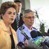 Presidenta Dilma, Ministro Aldo Rebelo e  o Comandante da Aeronáutica visitam o KC-390