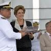 Ao receber Navio Bahia, Presidenta Dilma garante recursos para projetos de Defesa