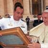 "Papa Francisco recebe no Vaticano tripulantes da Fragata ""Liberal"""