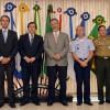 Ministro Jungmann e comandantes das Forças Armadas recebem presidentes do Senado e da Câmara no Ministério da Defesa