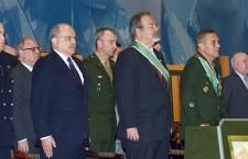 Ministro da Defesa, comemora Dia do Soldado com comandantes do Exército Brasileiro e Uruguaio