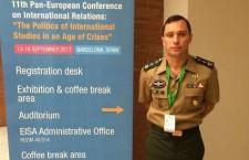 Militar do Exército Brasileiro participa da 11ª Conferência Pan-Europeia de Relações Internacionais