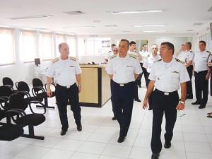 Comandante da Marinha visita à Capitania dos Portos de São Paulo