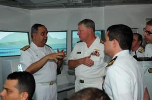 Marinha do Brasil recebe visita do Chefe de Operações Navais dos Estados Unidos da América