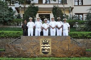 Representantes da Marinha da Índia visitam a Força de Submarinos