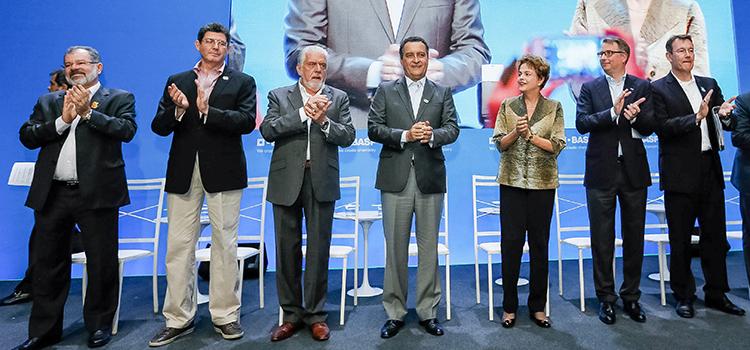 Wagner participa com Presidenta Dilma  de inauguração da Basf na Bahia