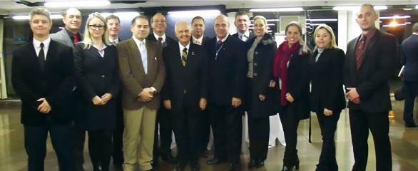 Prof. Dr. Gustavo Heck e alguns alunos do CEPE/CEPEG