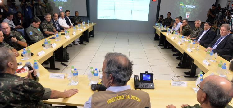 Ministro Jungmann verifica operação do SISFRON, em Dourados (MS)