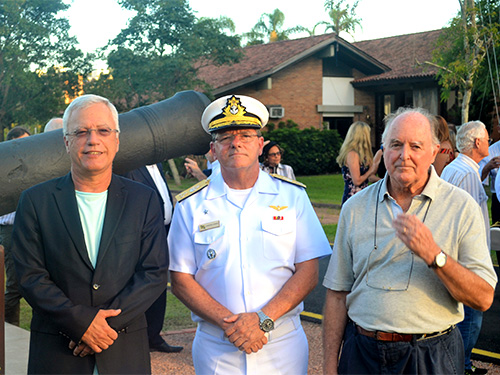Comodoro Manuel Ruttkay Pereira, Vice-Almirante Victor Cardoso Gomes  e Paulo Renato Paradeda