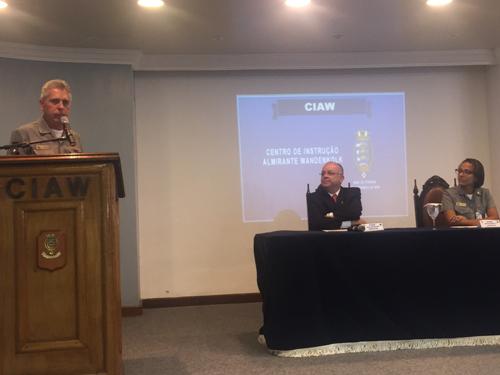 Comandante do CIAW e palestrantes