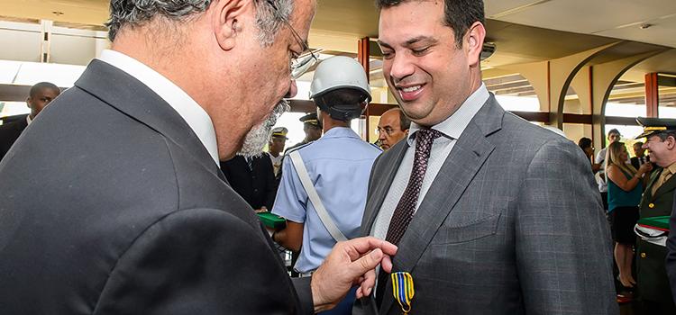 O Ministro do Esporte, Leonardo Picciani, foi um dos agraciados