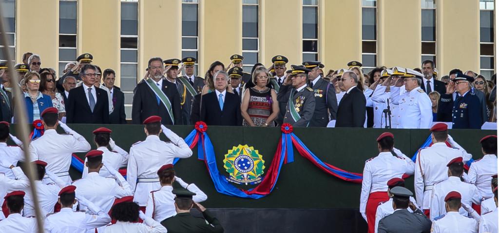 O Comandante do Exército, General Villas Bôas, agradeceu a participação das autoridades militares e civis