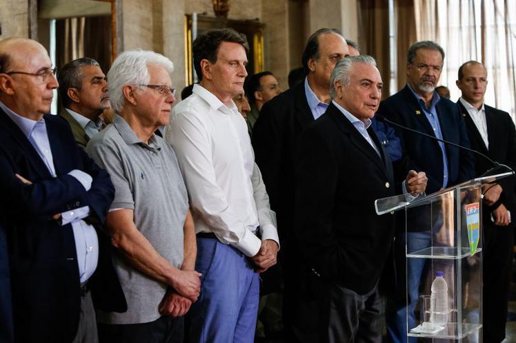 Michel Temer faz declaração no Rio de Janeiro sobre a segurança pública do Estado