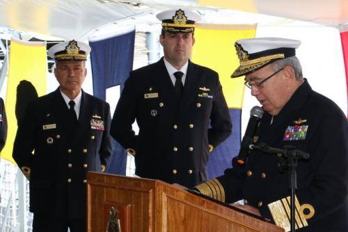 Comandante da Marinha participa da despedida do Navio Escola Brasil que segue para XXXI Viagem de Instrução de Guardas-Marinha