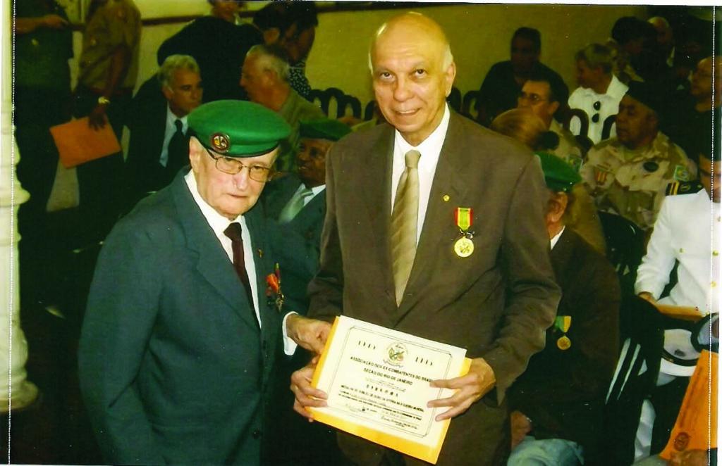 Secretário Geral Oscar Moreira e o jornalista Coelho