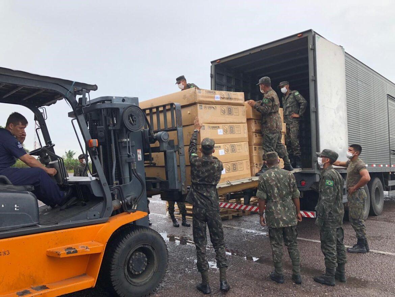 Apoio ao Ministério da Defesa e ONU na armazenagem e transporte de abrigos