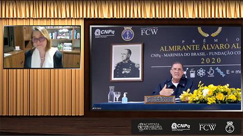 """Marinha participa da Sessão Solene de Entrega do Prêmio """"Almirante Álvaro Alberto"""" para Ciência e Tecnologia Edição 2020"""