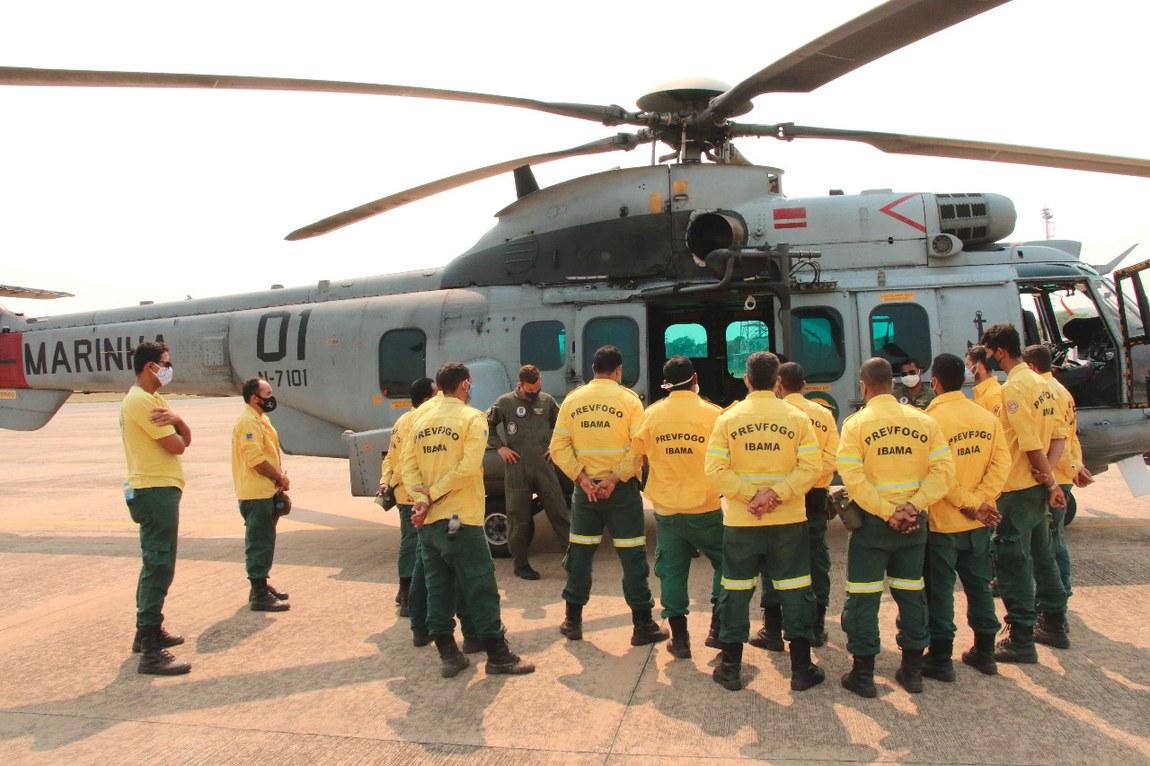 Operação Pantanal recebe reforço de meios aéreos, terrestres e navais