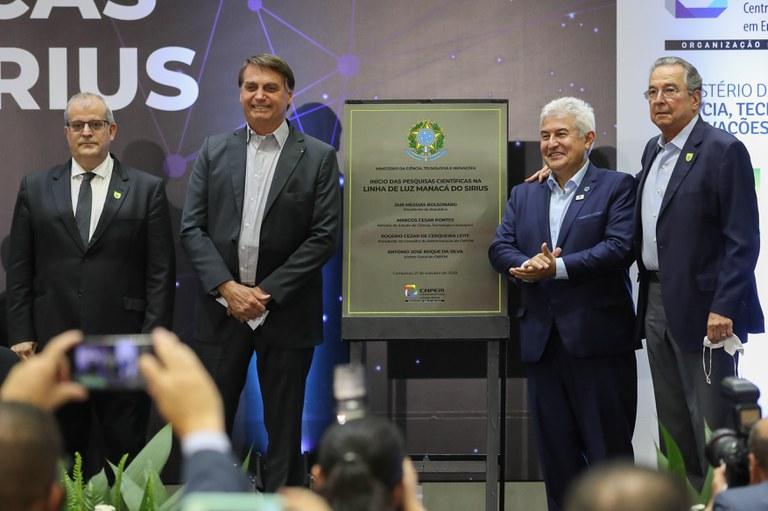 Em São Paulo, Presidente Bolsonaro inaugura projeto para pesquisa e visita Centro Tecnológico da Marinha