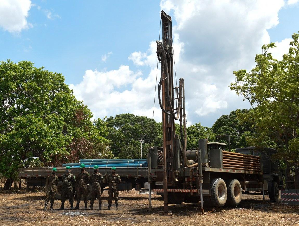 Projeto do Ministério da Defesa inicia perfuração de poço artesiano em aldeia indígena no Maranhão