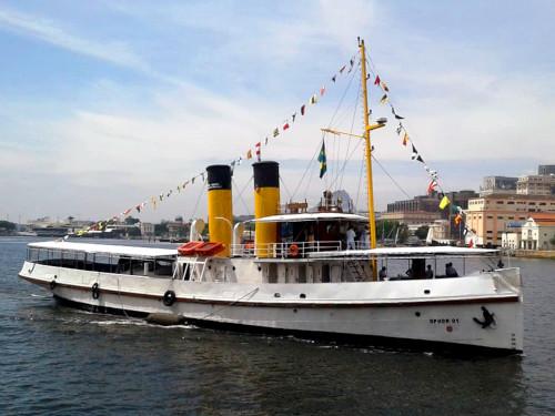 """DPHDM comemora os 110 anos da chegada do Rebocador-Museu """"Laurindo Pitta"""" ao Brasil"""