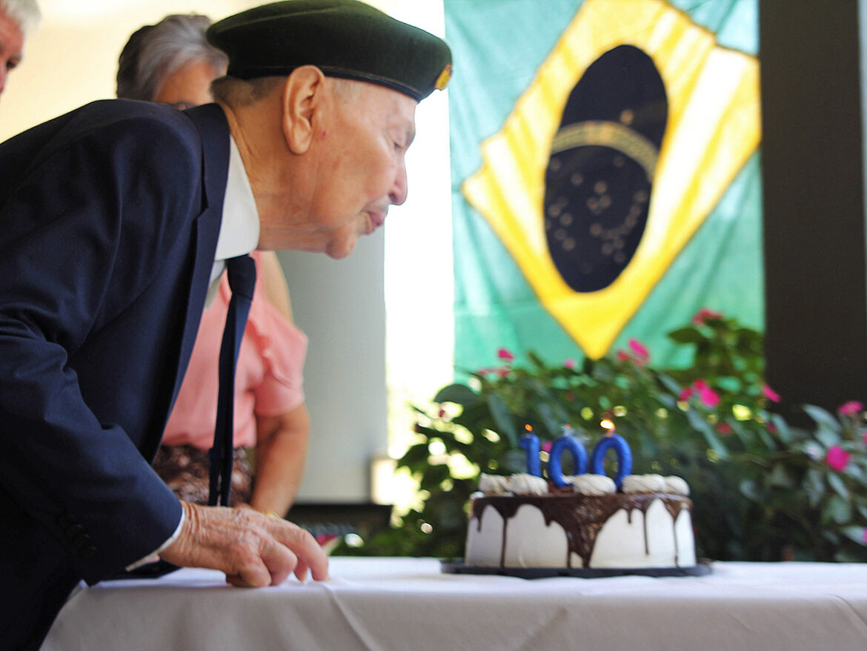 Pracinha da FEB completa 100 anos e recebe homenagem