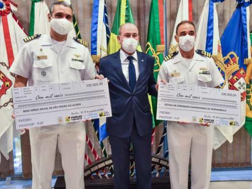 Base Aérea Naval de São Pedro da Aldeia recebe prêmio do Ministério da Defesa