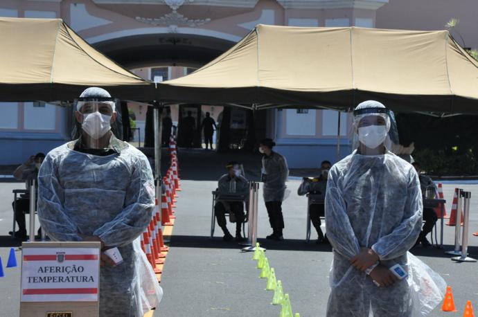 Com as recomendações de saúde da COVID-19, Forças Armadas realizam concursos públicos para as Escolas Militares