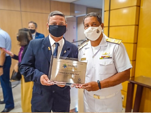 Comando do 6º Distrito Naval é homenageado com 10º Prêmio Melhor Gestão do Projeto Soldado Cidadão