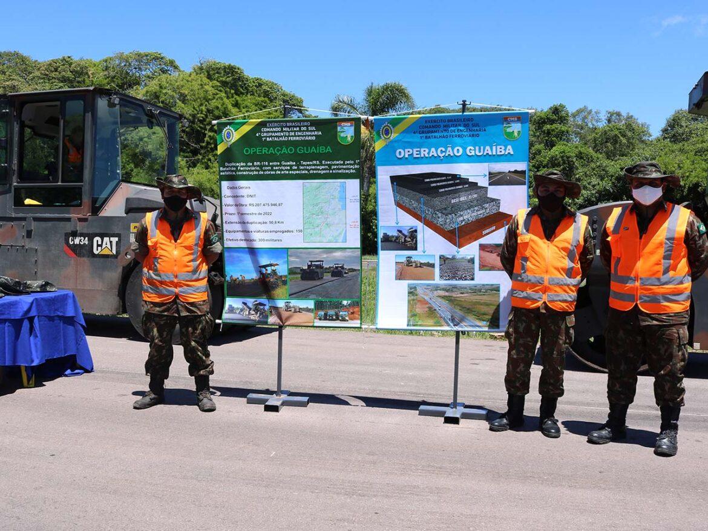 Engenharia do Exército Brasileiro entrega mais um trecho da duplicação da BR-116 no Rio Grande do Sul