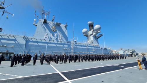 """Aspirantes da Escola Naval embarcam no Capitânia da Esquadra para """"Aspirantex/2021"""""""