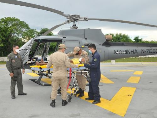 Comando do 6º Distrito Naval resgata senhora de 78 anos em área de difícil acesso no Pantanal