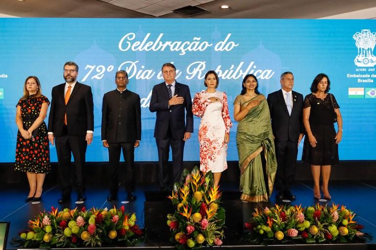 Presidente participa de celebração do Dia da República da Índia