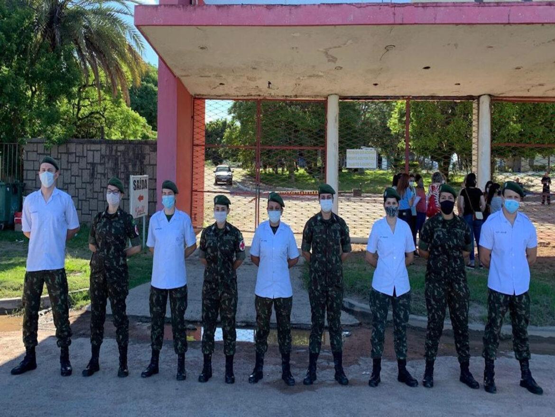 Exército apoia imunização da população contra o covid-19 #EBPreservandoVidas