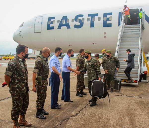 Base Aérea do Galeão recepciona militares do Exercício Culminating