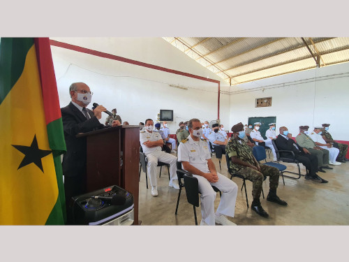 Cerimônia marca o encerramento do 2º Curso de Especialização de Infantaria em São Tomé e Príncipe