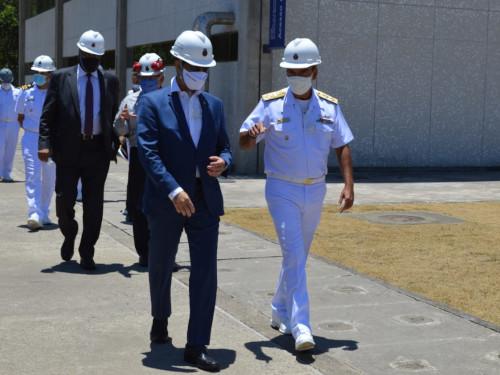 Procurador-Geral de Justiça Militar visita o Complexo Naval de Itaguaí