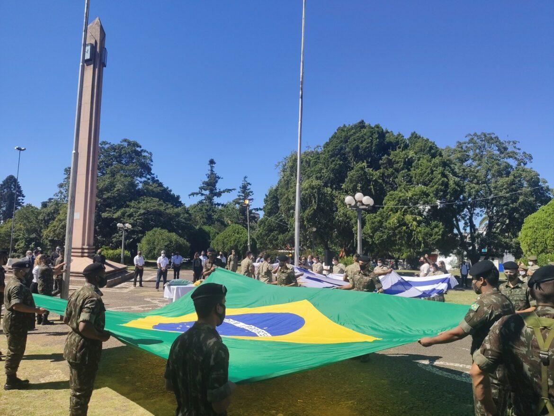 Celebração na fronteira reúne tropas dos Exércitos Brasileiro e do Uruguai
