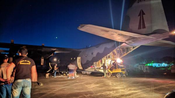 C-130 Hércules da FAB transporta usina de oxigênio e gerador para Oiapoque (AP)