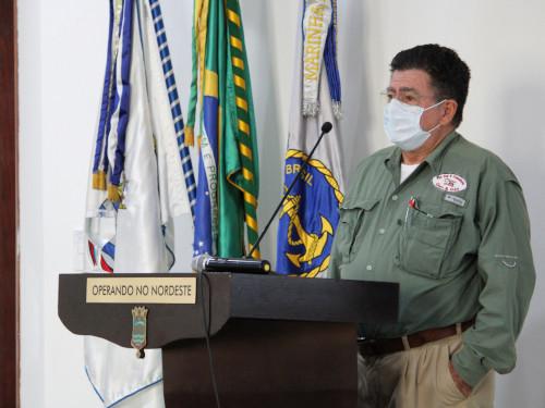 """Comando do 3º Distrito Naval realiza Webinar """"Sistema de Comando de Incidentes"""" sobre combate à poluição por óleo"""