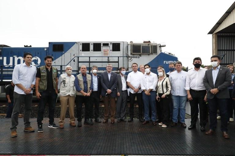 Inaugurados 172 quilômetros da Ferrovia Norte-Sul entre Goiás e São Paulo
