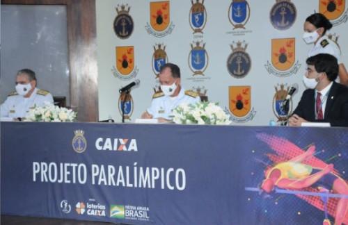 Marinha e Caixa Econômica Federal assinam acordo em apoio ao esporte paralímpico brasileiro