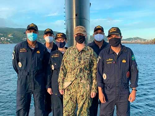 """Submarino """"Tupi"""" recebe submarinista da Marinha dos Estados Unidos da América"""