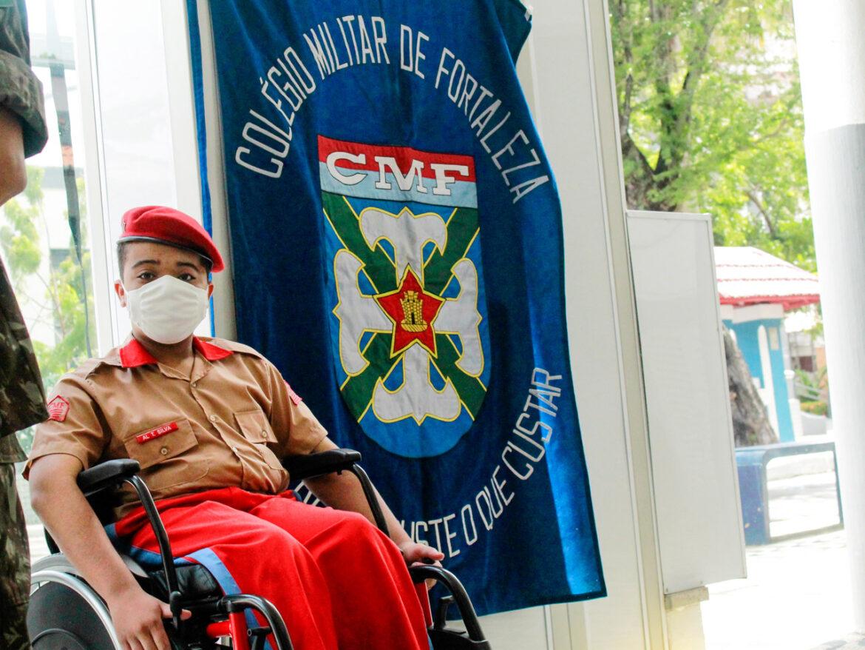 Colégio Militar de Fortaleza amplia estrutura de acessibilidade